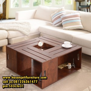 Coffee Table Minimalis Model Meja Sofa Kayu Jati