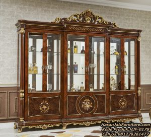 Harga Lemari Hias Jati New Design Display Cabinet Classic