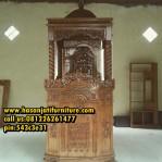 Mimbar Jati Masjid Podium Masjid Agung
