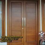 Pintu Minimalis Jati Desain Pintu Rumah Samping