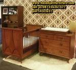 Set Box Bayi Kayu Jati Ranjang Tempat Tidur Bayi