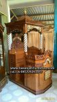 Mimbar Khutbah Masjid Klasik Kayu Jati