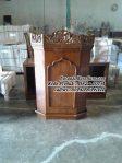 Mimbar Masjid Kayu Jati Podium Khutbah Sederhana