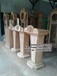 Mimbar Masjid Minimalis Podium Kayu Jati