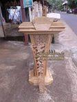 Mimbar Masjid Minimalis Ukir Podium Jati