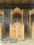 Mimbar Masjid Ukiran Terbaru Podium Mimbar Jati