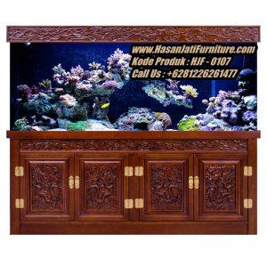 Lemari Aquarium Jati Klasik Meja Aquarium Ukir Mewah