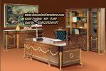 Meja Kantor Jati Mewah Model Meja Direktur Klasik