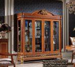 Jual Lemari Hias Jati New Classic Display Cabinet